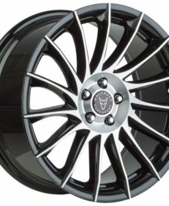 Alumiinivanne henkilö- ja pakettiautoihin - Wolfrace Aero black polished