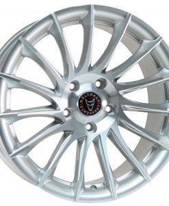 Alumiinivanne henkilö- ja pakettiautoihin - Wolfrace Aero silver polished
